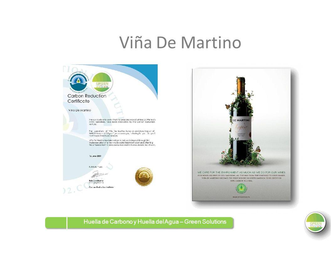 Viña De Martino Huella de Carbono y Huella del Agua – Green Solutions