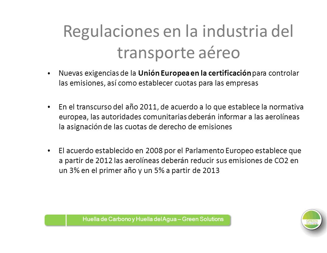 Regulaciones en la industria del