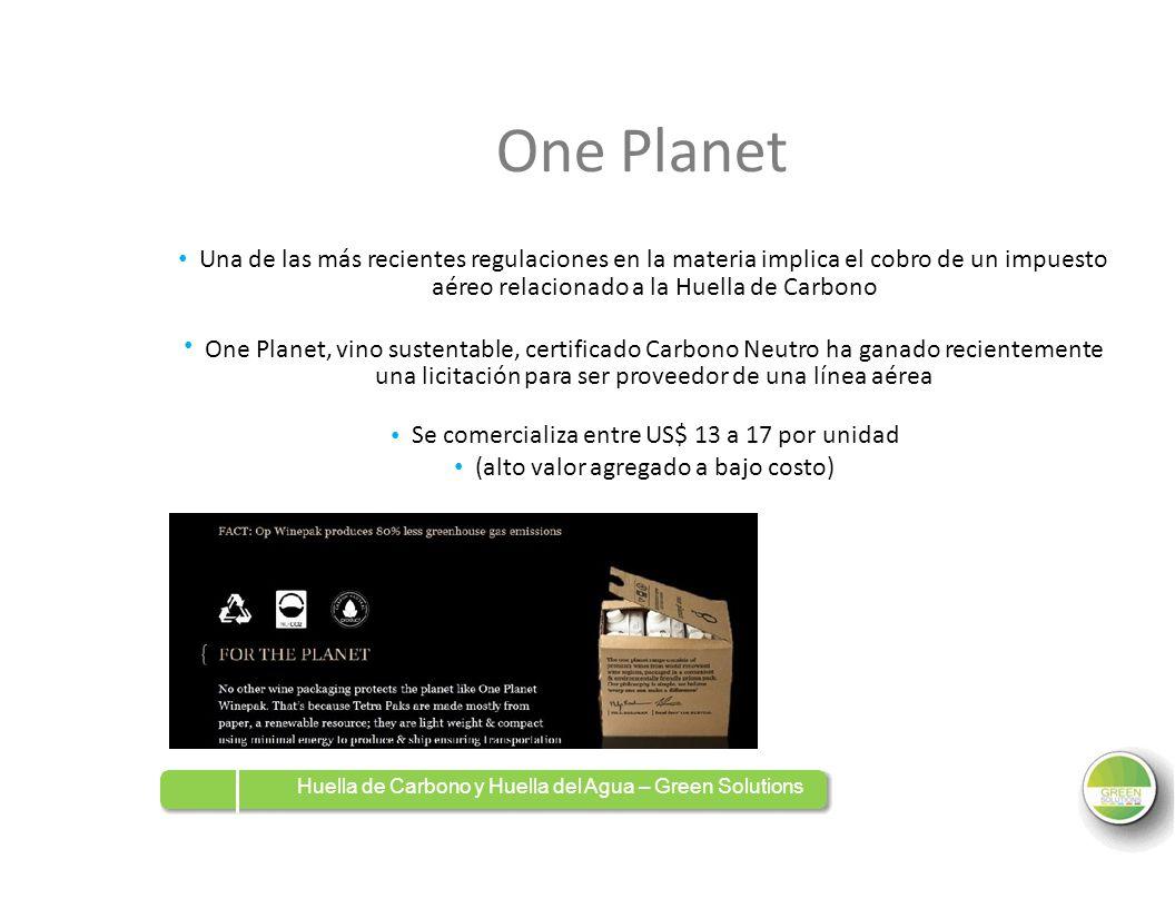 One Planet Se comercializa entre US$ 13 a 17 por unidad