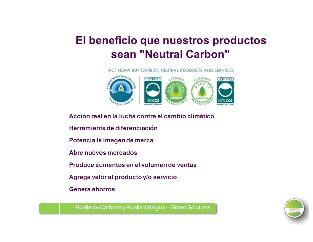 El beneficio que nuestros productos