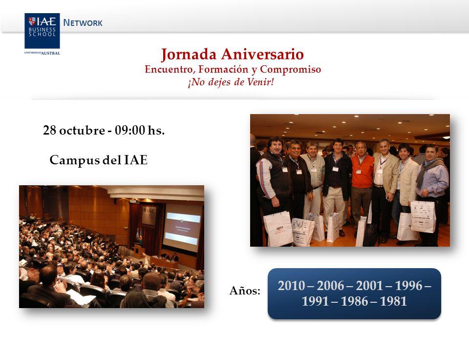 Jornada Aniversario Encuentro, Formación y Compromiso