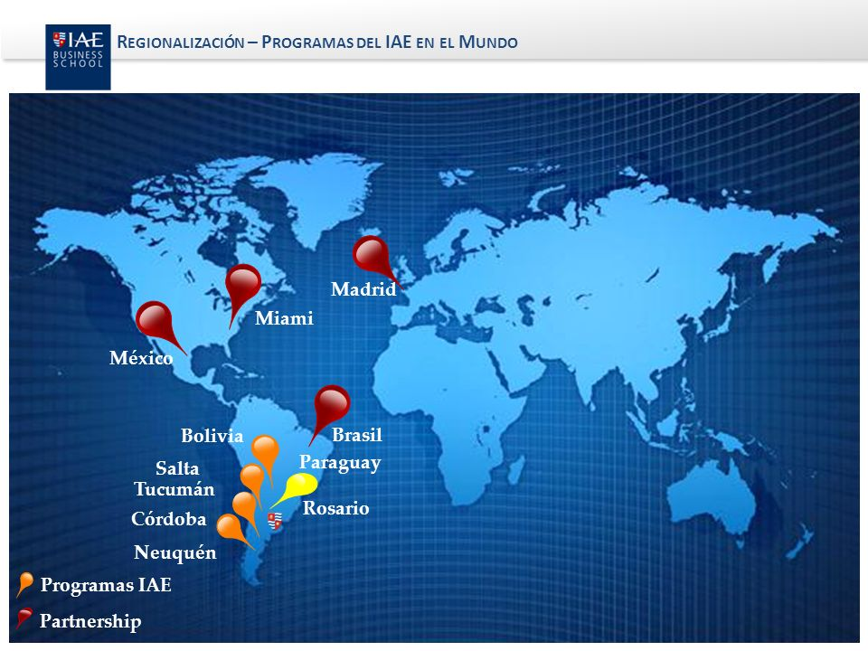 Regionalización – Programas del IAE en el Mundo