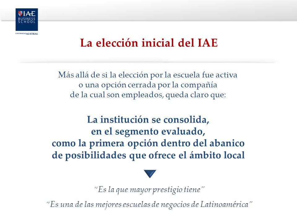 La elección inicial del IAE