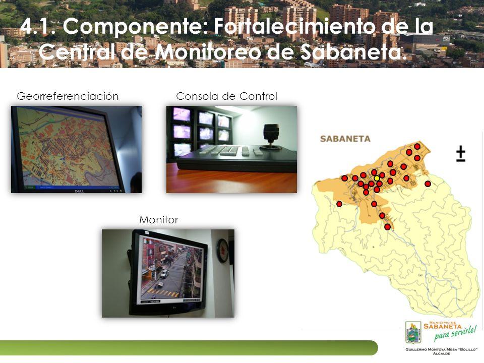 4.1. Componente: Fortalecimiento de la Central de Monitoreo de Sabaneta.