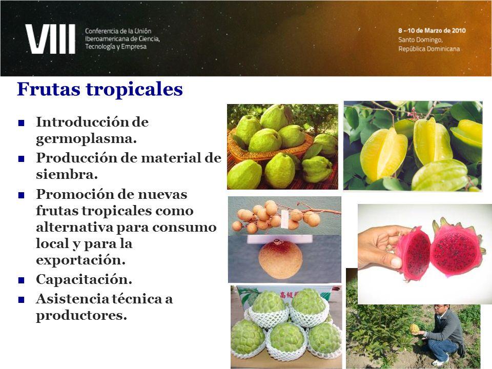 Frutas tropicales Introducción de germoplasma.