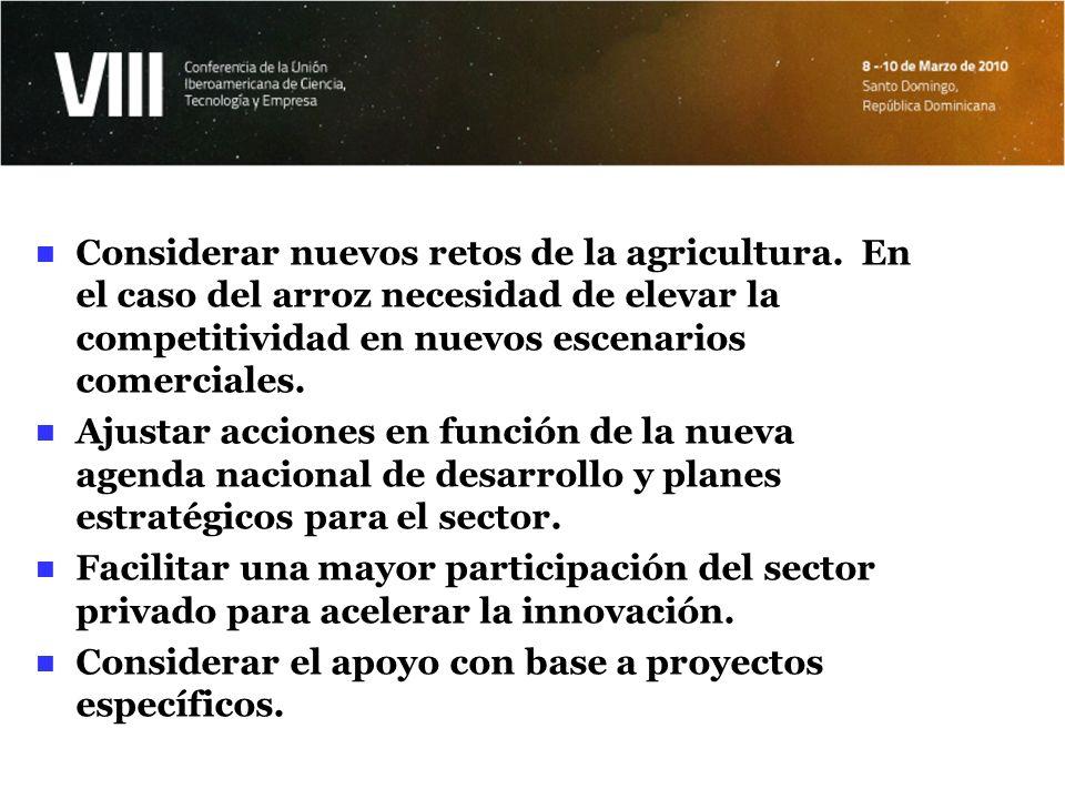Considerar nuevos retos de la agricultura
