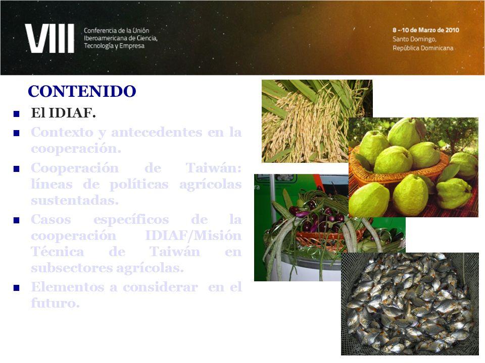 CONTENIDO El IDIAF. Contexto y antecedentes en la cooperación.