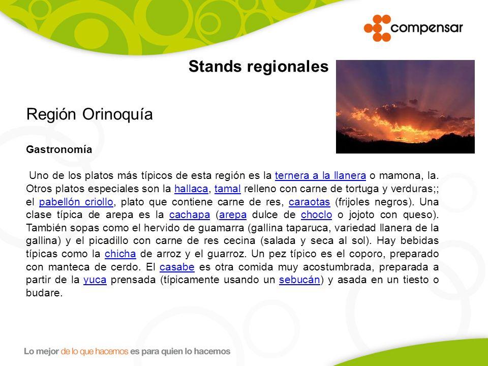 Región Orinoquía Stands regionales Gastronomía