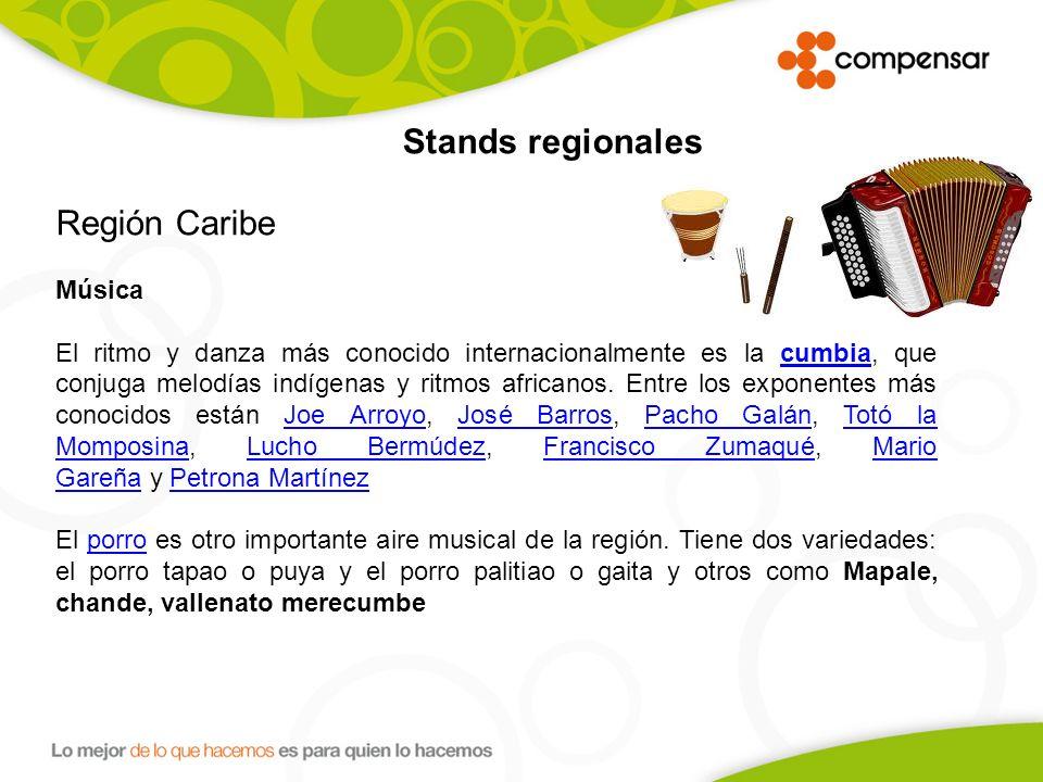 Stands regionales Región Caribe. Música.
