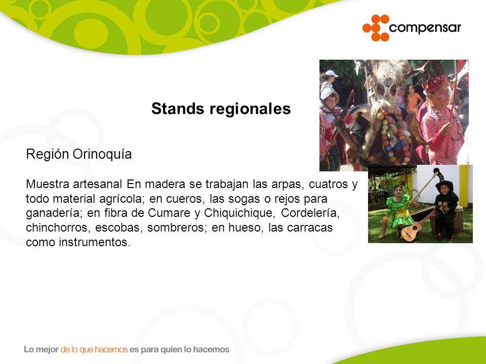 Stands regionales Región Orinoquía.
