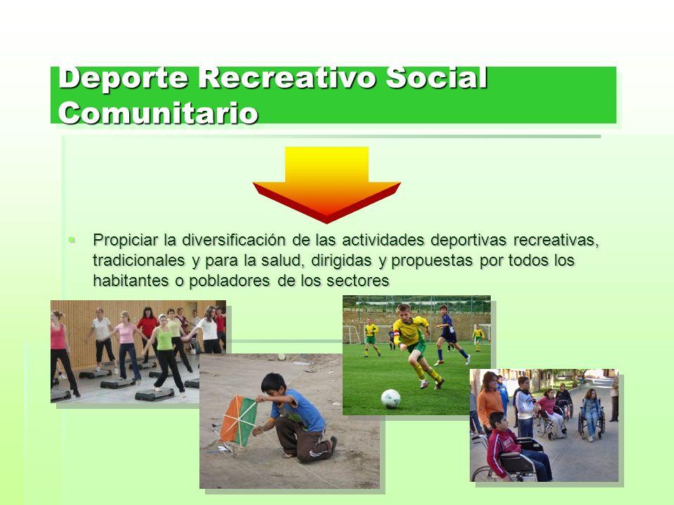 Deporte Recreativo Social Comunitario