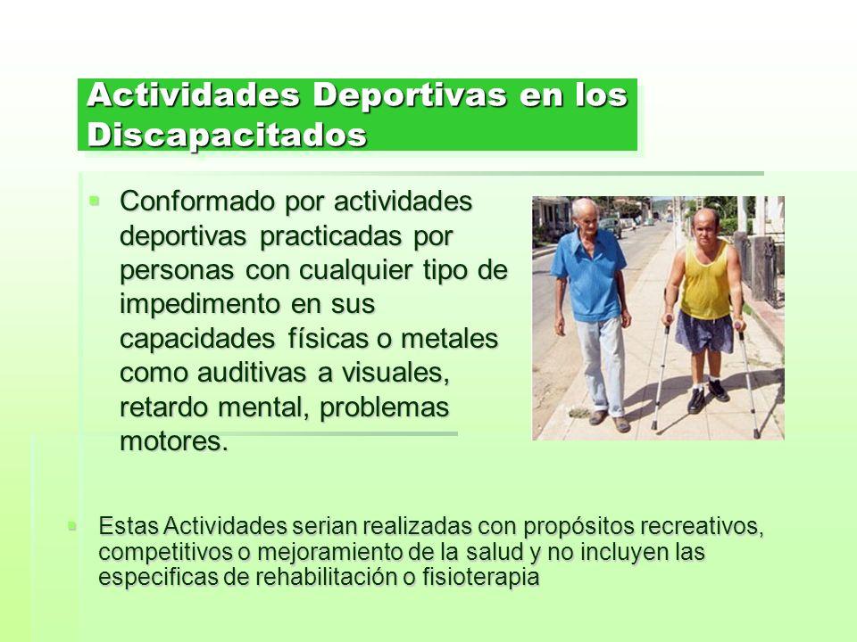 Actividades Deportivas en los Discapacitados
