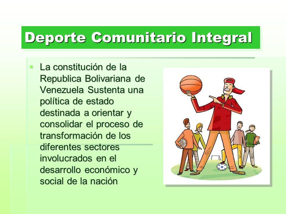 Deporte Comunitario Integral