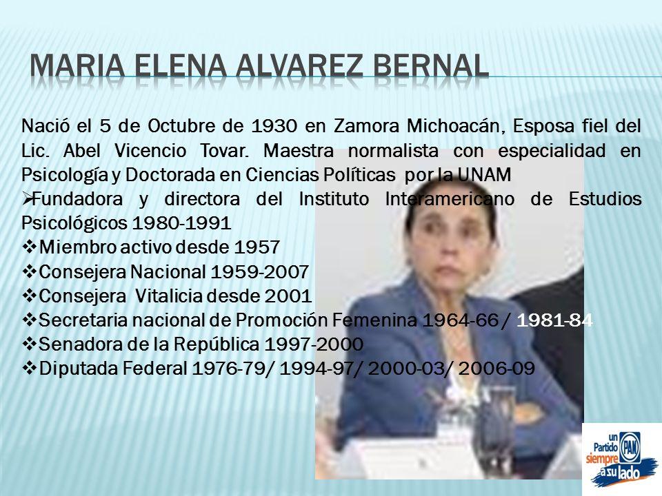 MARIA ELENA ALVAREZ BERNAL