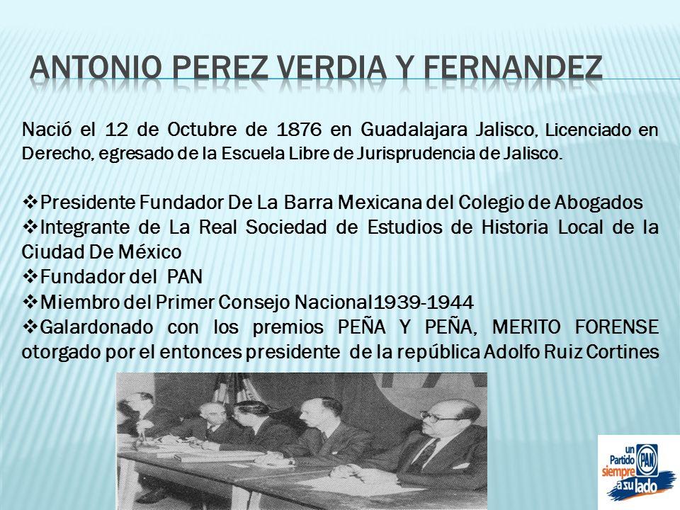 ANTONIO PEREZ VERDIA Y FERNANDEZ