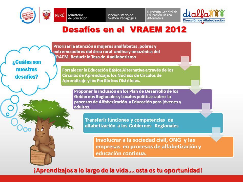 Desafíos en el VRAEM 2012