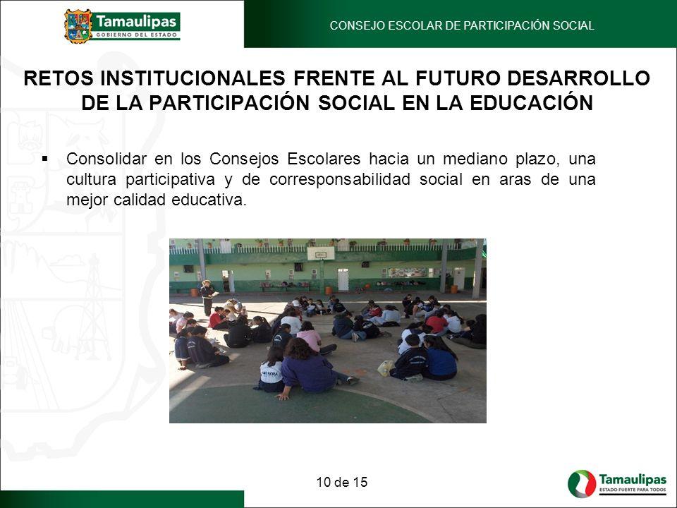 CONSEJO ESCOLAR DE PARTICIPACIÓN SOCIAL