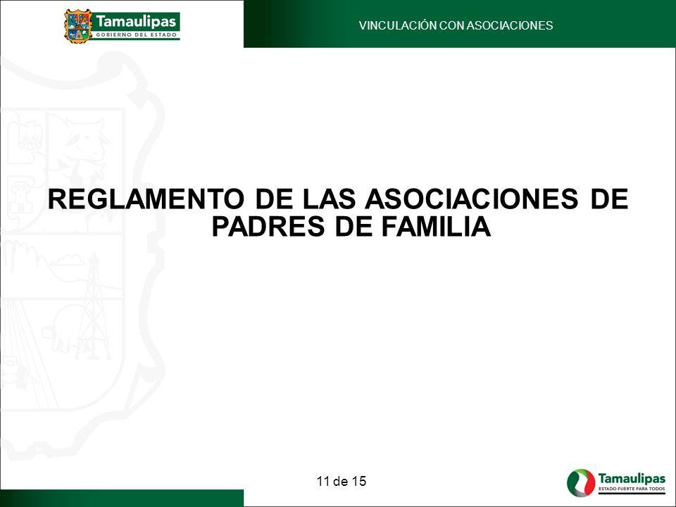 REGLAMENTO DE LAS ASOCIACIONES DE PADRES DE FAMILIA