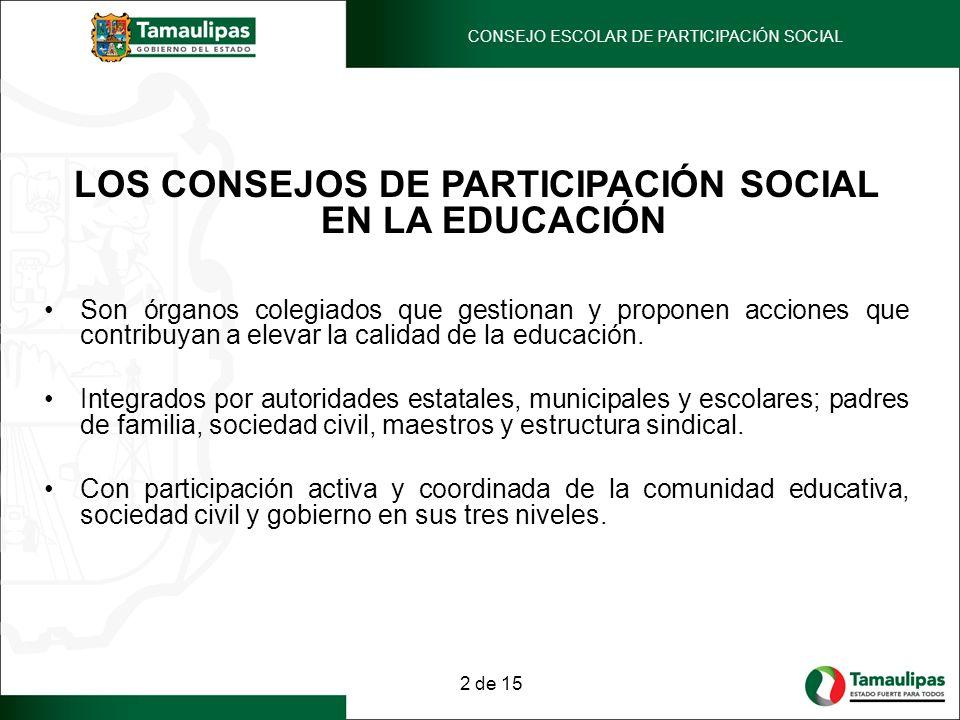 LOS CONSEJOS DE PARTICIPACIÓN SOCIAL EN LA EDUCACIÓN