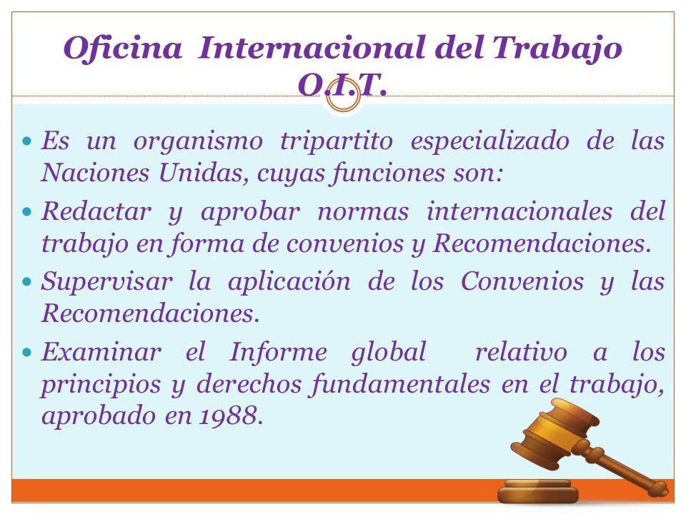 Oficina Internacional del Trabajo O.I.T.