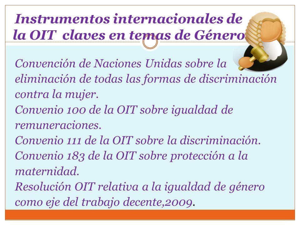 Instrumentos internacionales de la OIT claves en temas de Género