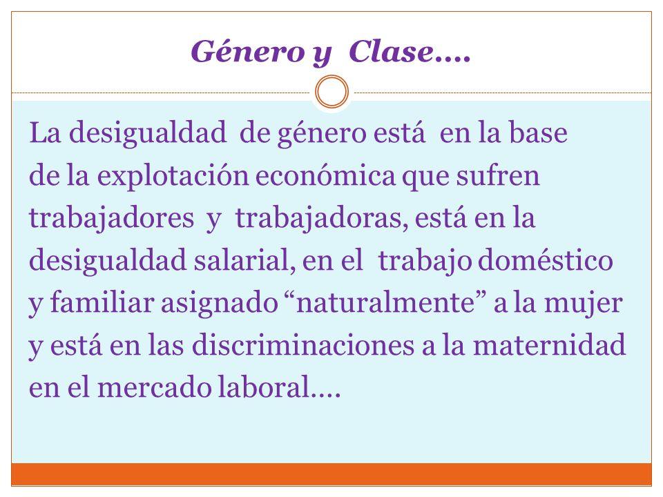 Género y Clase….