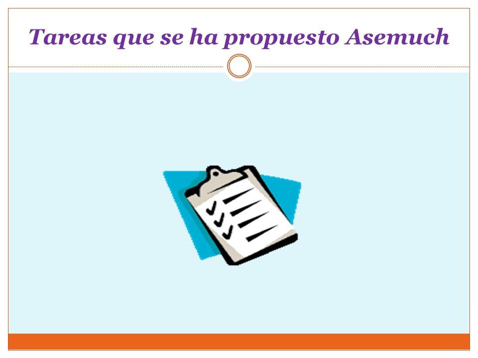 Tareas que se ha propuesto Asemuch