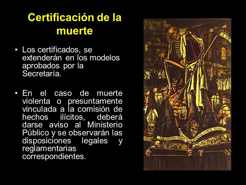 Certificación de la muerte