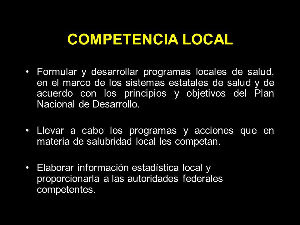 COMPETENCIA LOCAL
