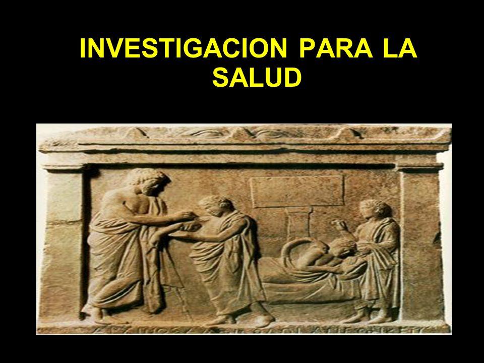 INVESTIGACION PARA LA SALUD