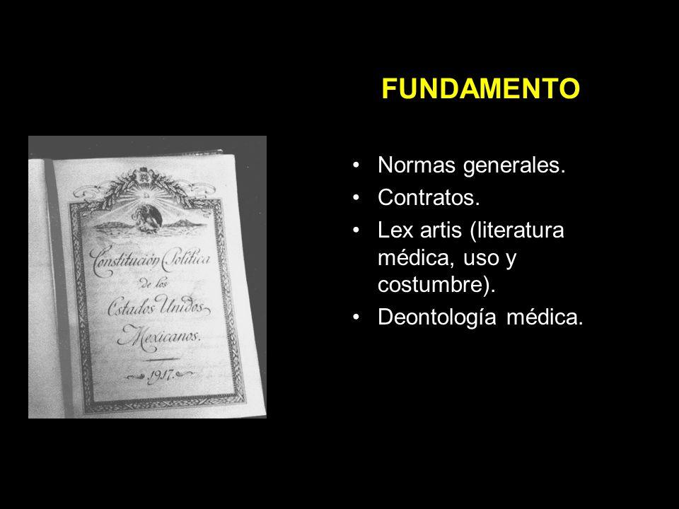 FUNDAMENTO Normas generales. Contratos.