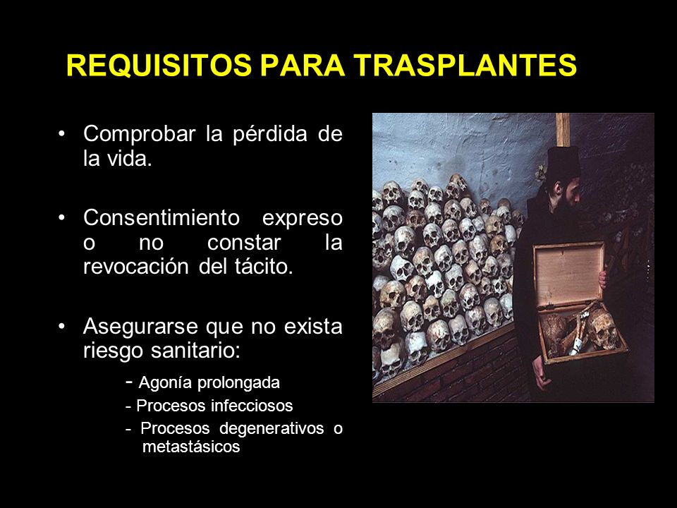REQUISITOS PARA TRASPLANTES