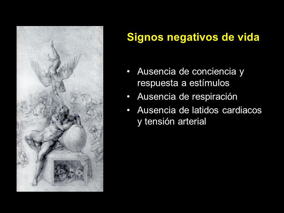 Signos negativos de vida