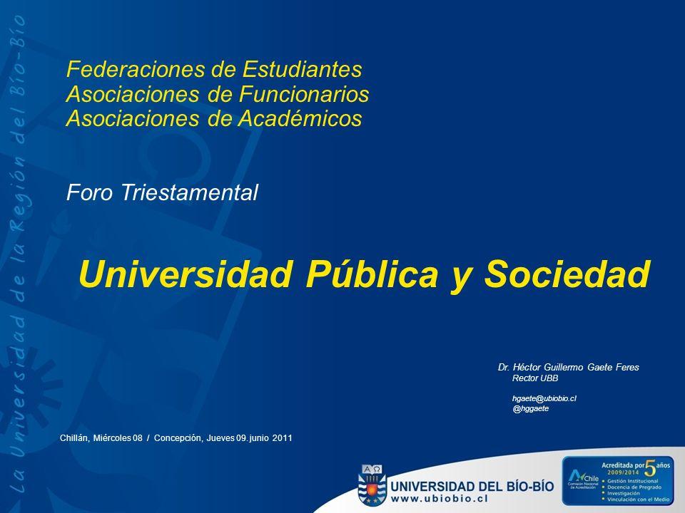 Universidad Pública y Sociedad