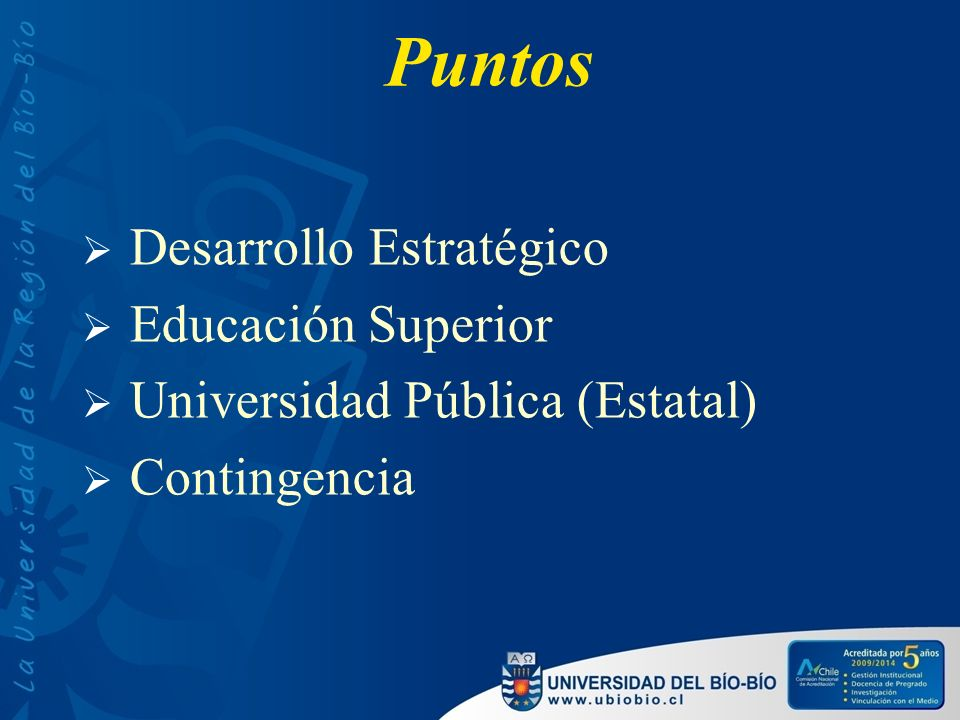 Puntos Desarrollo Estratégico Educación Superior