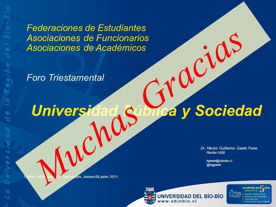 Muchas Gracias Universidad Pública y Sociedad