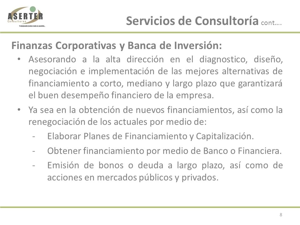 Financiamiento Capital de Trabajo: