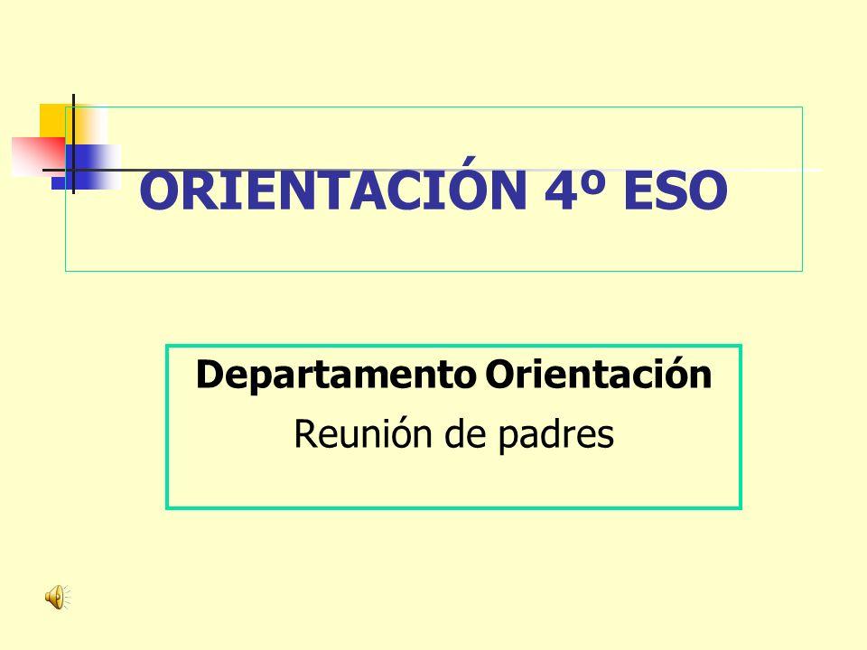 Departamento Orientación Reunión de padres