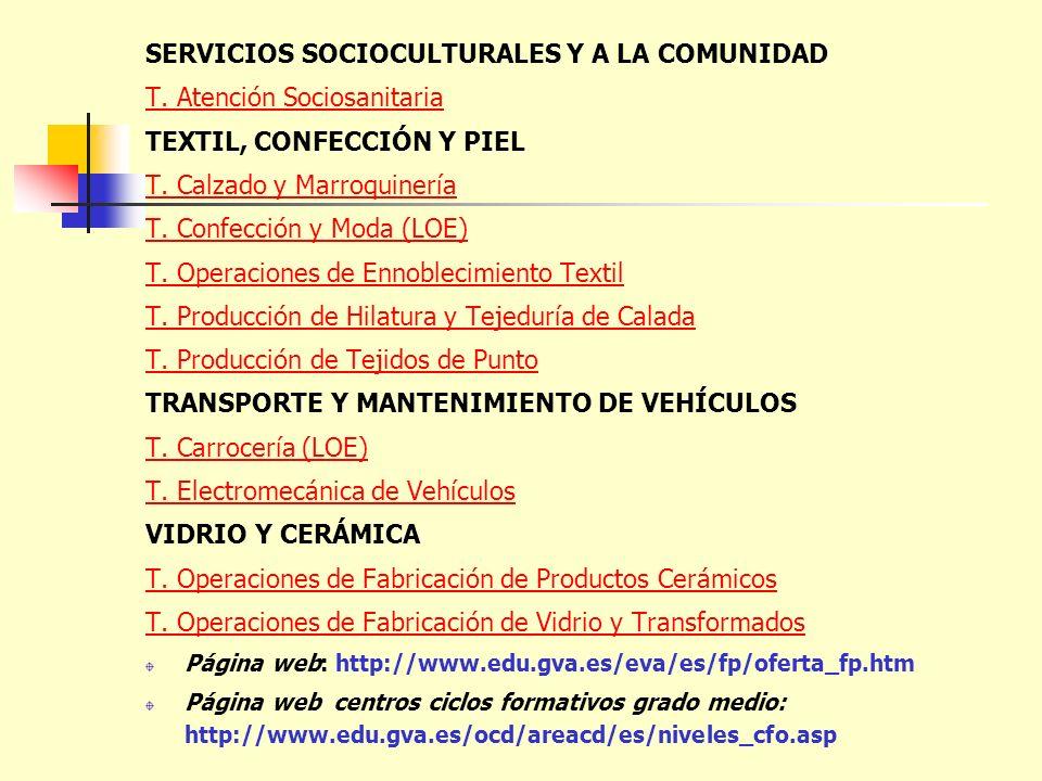 SERVICIOS SOCIOCULTURALES Y A LA COMUNIDAD T. Atención Sociosanitaria