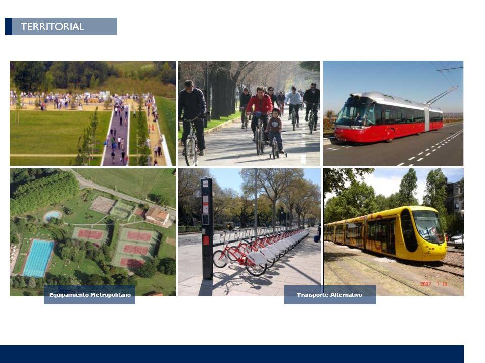 TERRITORIAL Equipamiento Metropolitano Transporte Alternativo