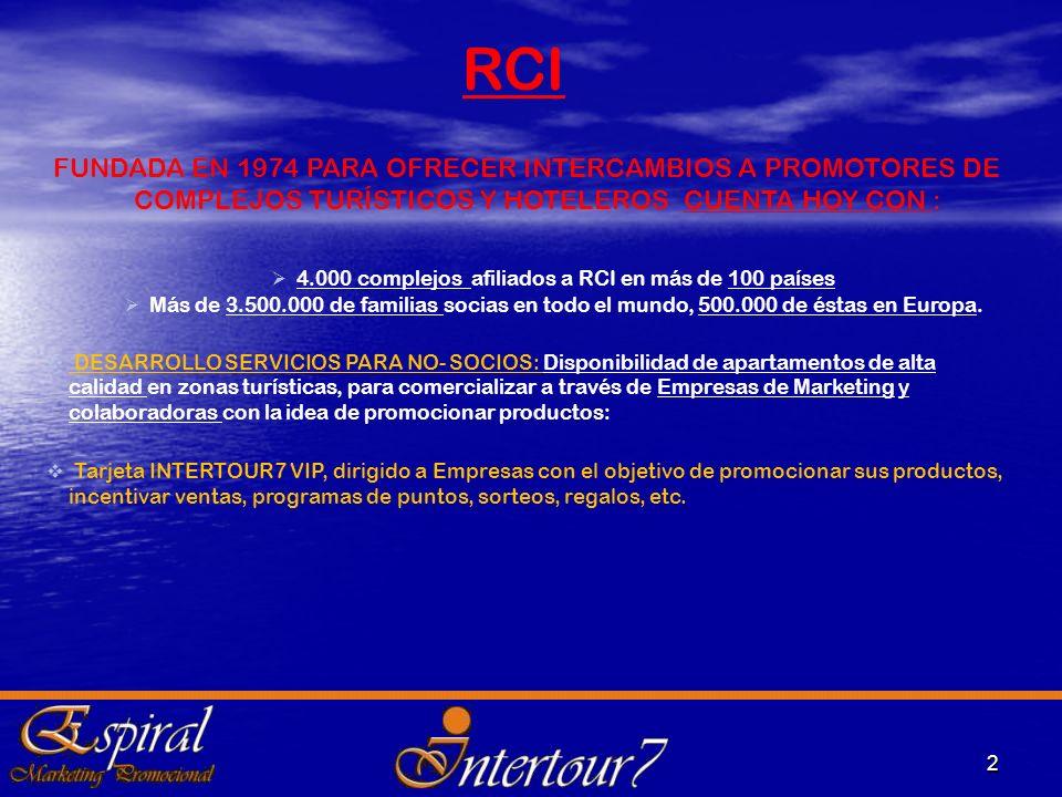 4.000 complejos afiliados a RCI en más de 100 países