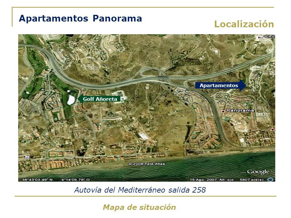 Apartamentos Panorama Localización