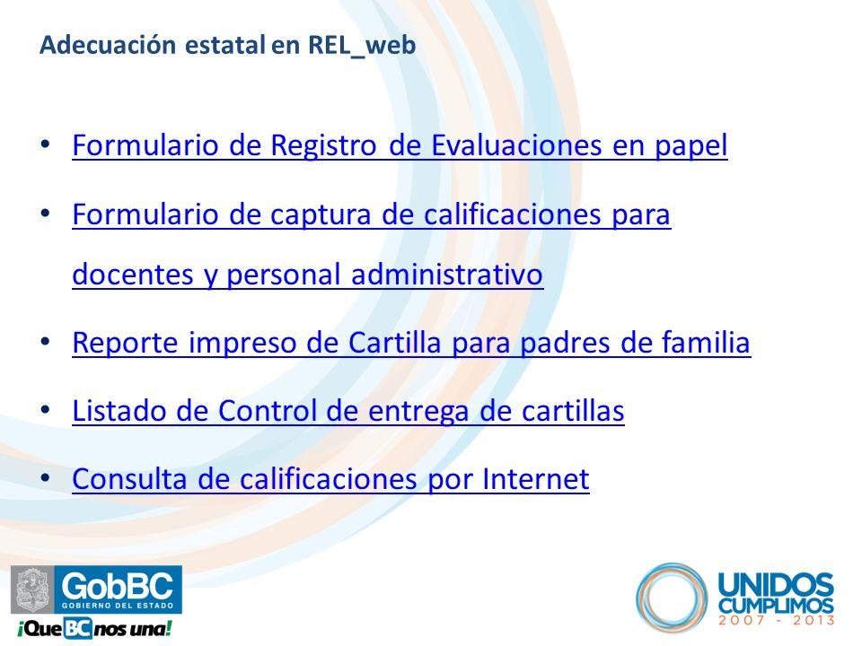 Adecuación estatal en REL_web