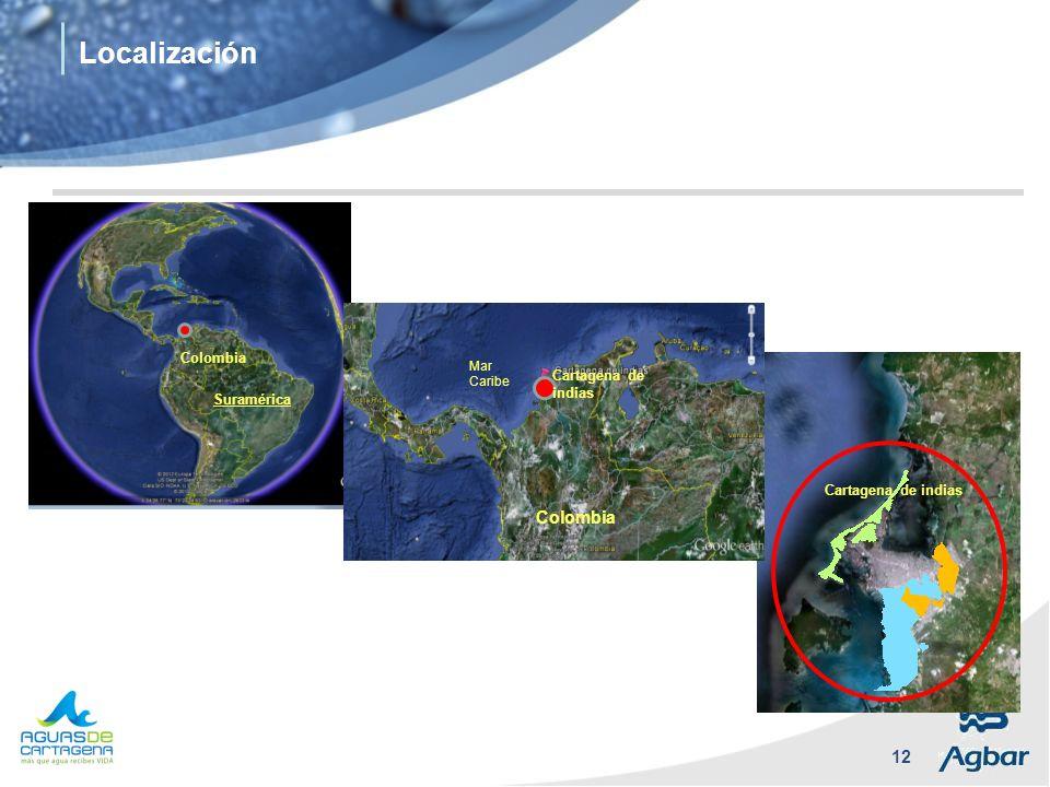 Localización Colombia Colombia Cartagena de indias Suramérica