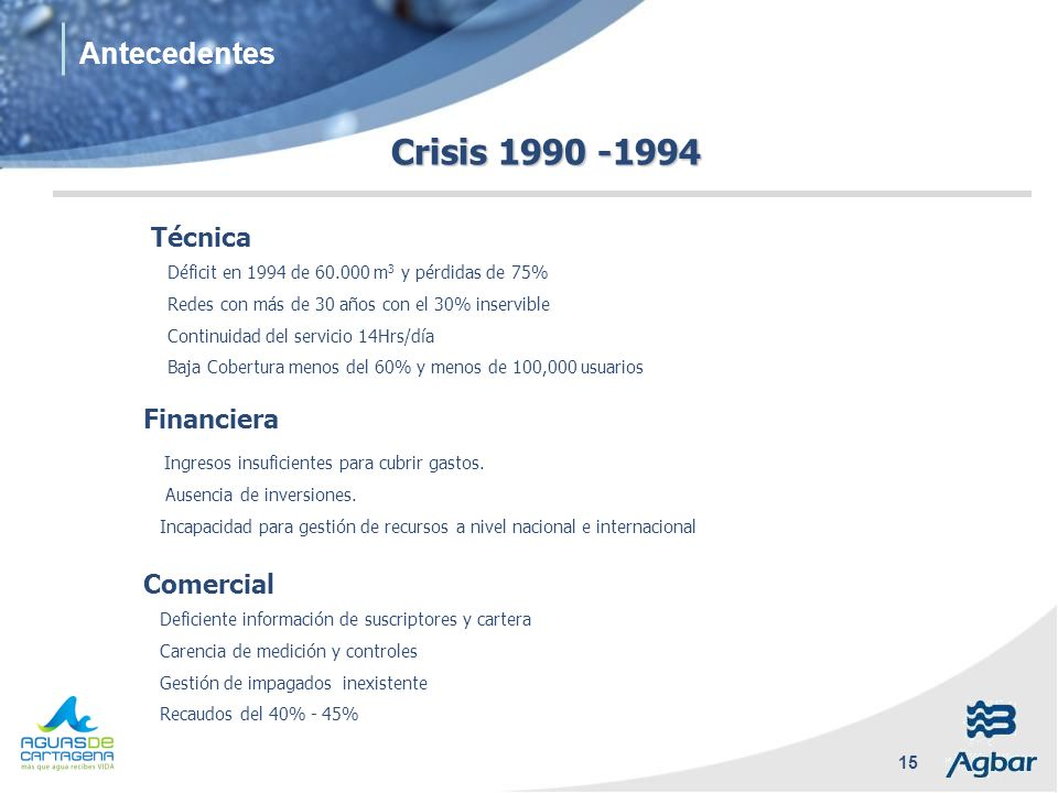 Crisis 1990 -1994 Antecedentes Técnica Financiera Comercial