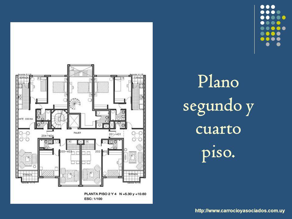 Plano segundo y cuarto piso.