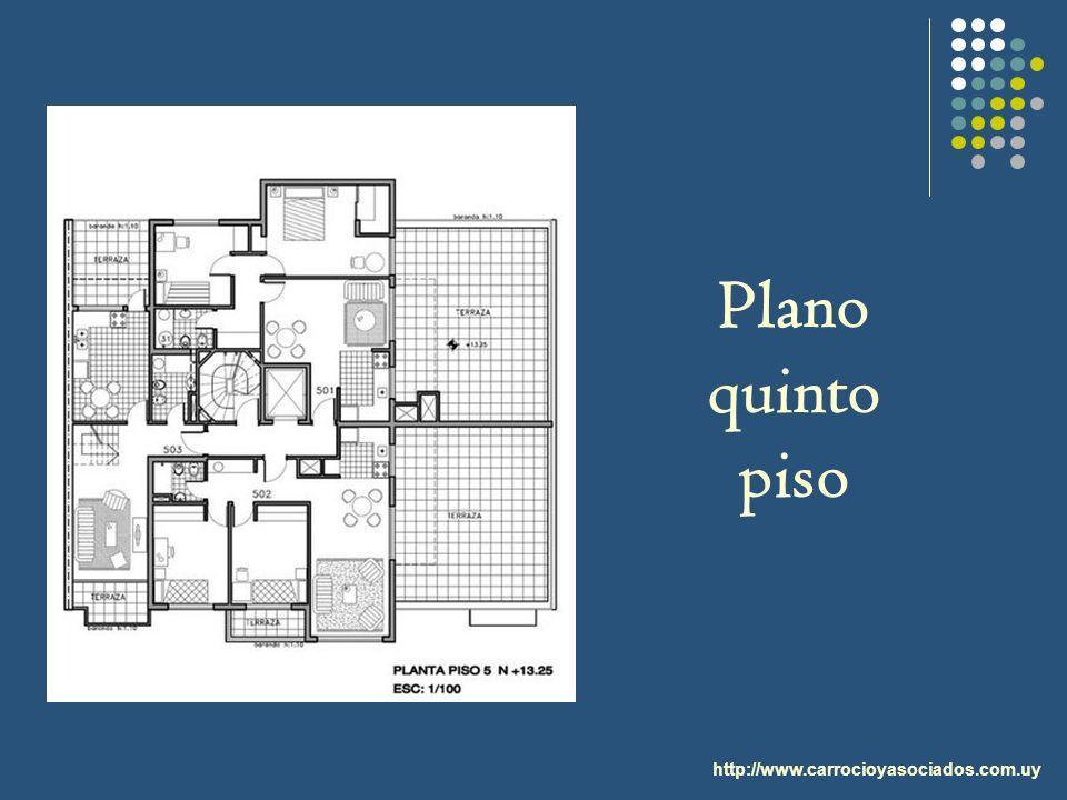 Plano quinto piso http://www.carrocioyasociados.com.uy