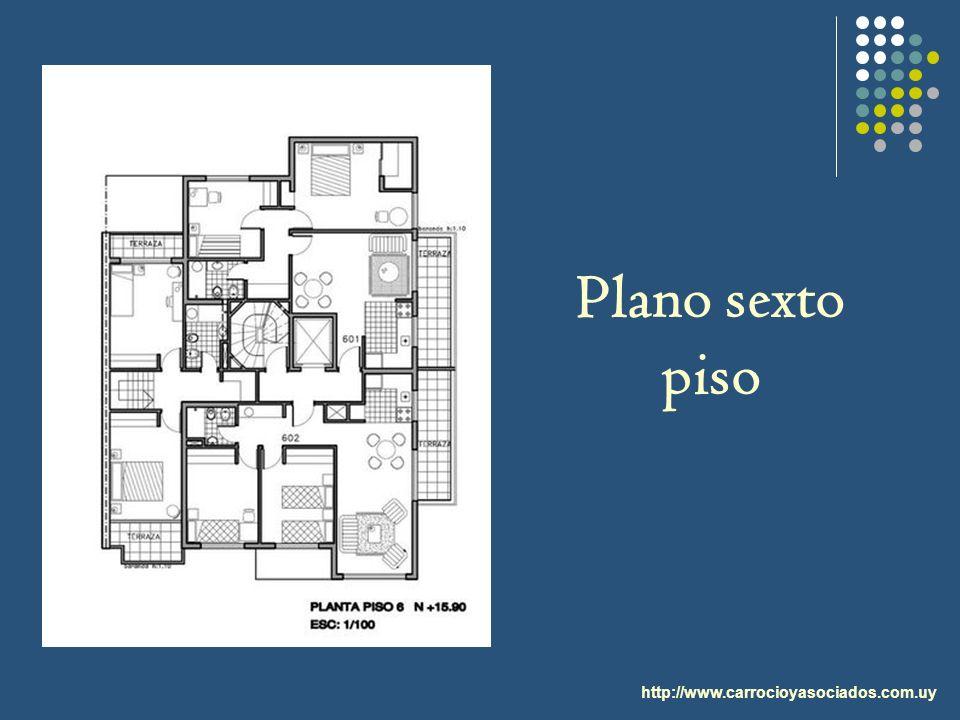 Plano sexto piso http://www.carrocioyasociados.com.uy