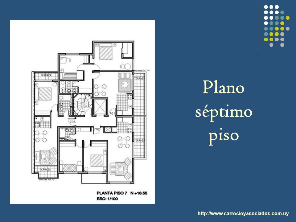 Plano séptimo piso http://www.carrocioyasociados.com.uy