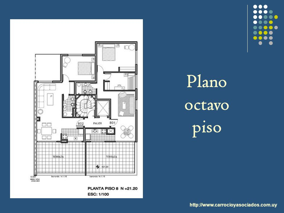 Plano octavo piso http://www.carrocioyasociados.com.uy